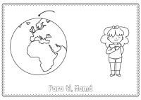 Mi mundo y mi corazn: dibujo para colorear e imprimir