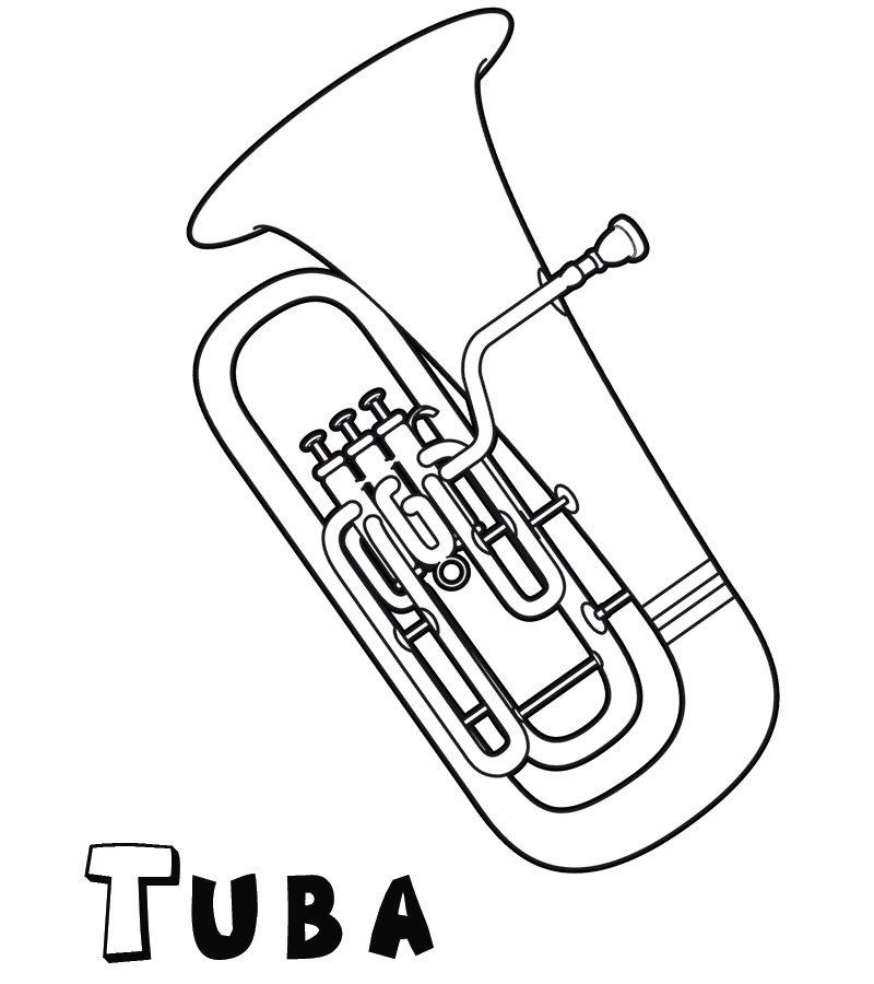 Tuba: Dibujos para colorear