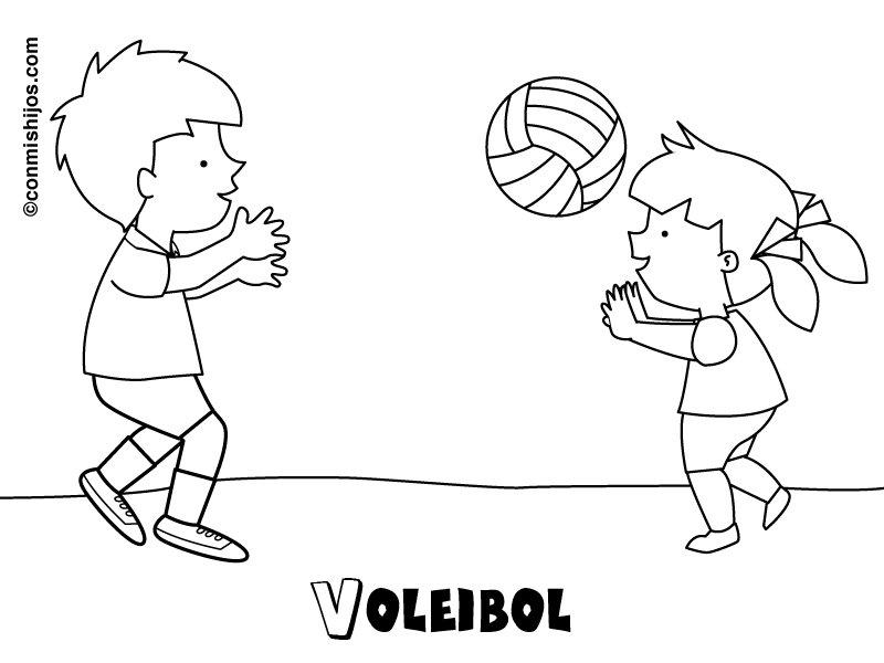 Voleibol: Dibujos para colorear
