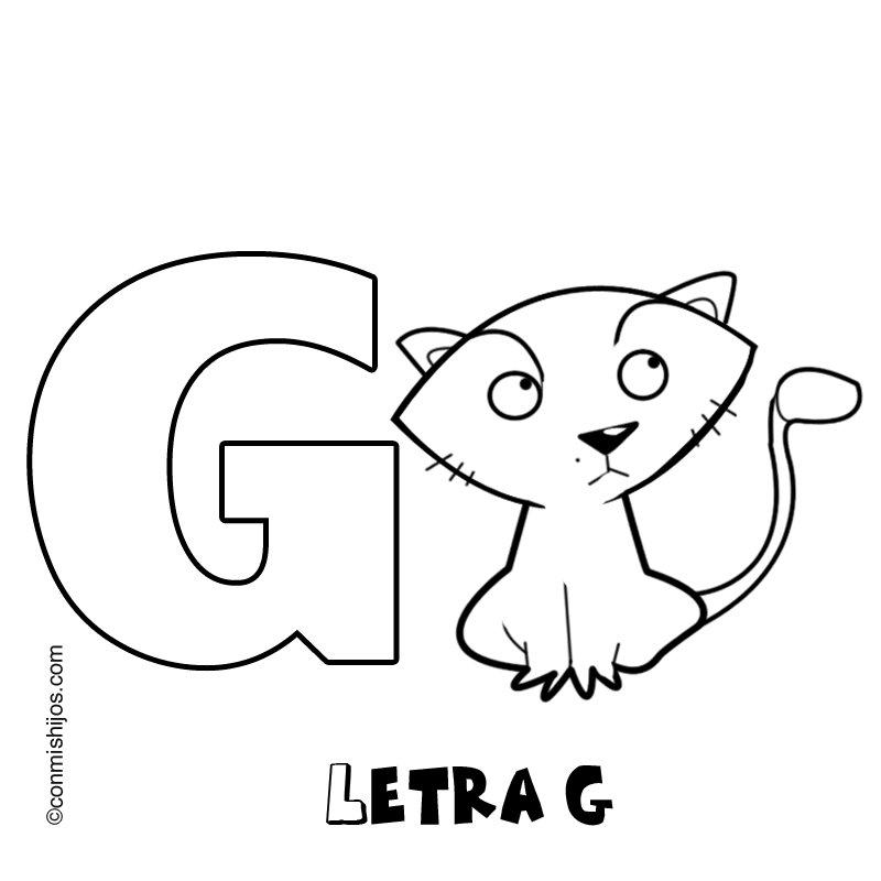 Letra G: Dibujos para colorear