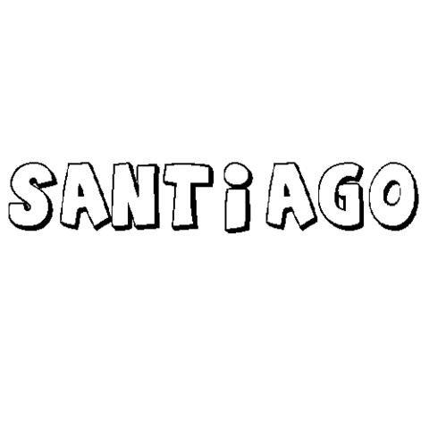 SANTIAGO: Dibujos para colorear