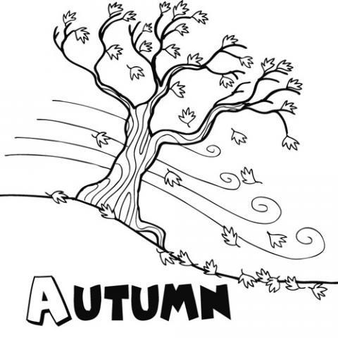 Autumn: Dibujos para colorear