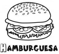 Hamburguesa: Dibujos para colorear
