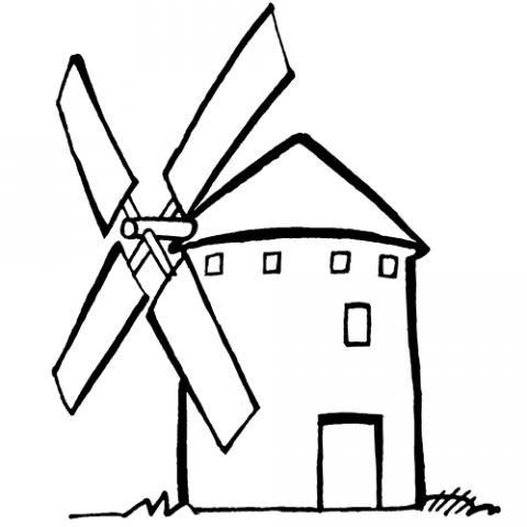 Molino de viento: Dibujos para colorear