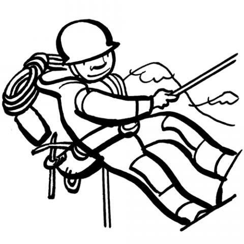 Alpinista: Dibujos para colorear