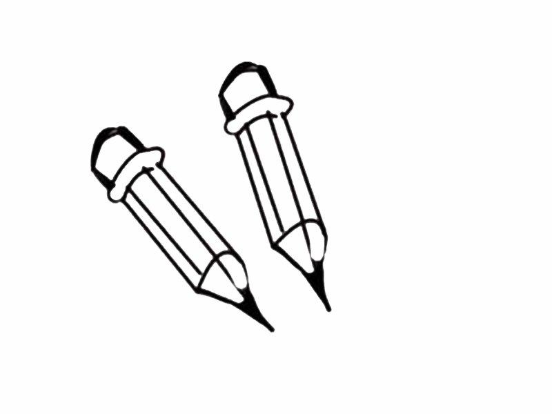 Dibujo infantil para colorear de lpices Dibujos del