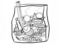 Imprimir: Bolsa de chuches: Dibujos para colorear