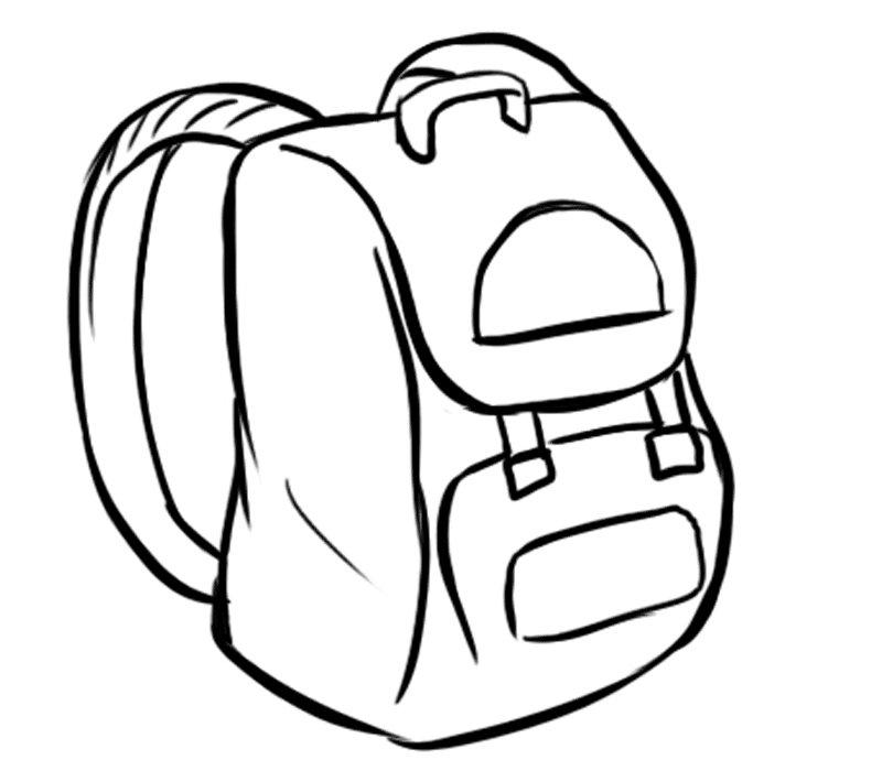 Mochila con correas: Dibujos para colorear