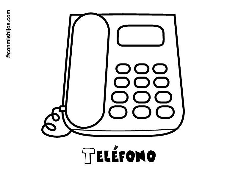 Teléfono: Dibujos para colorear
