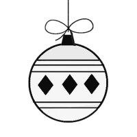 Dibujos de Navidad. Bola navidea
