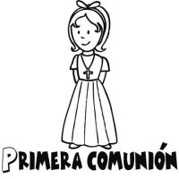 Dibujos para colorear de nia en su Primera Comunin