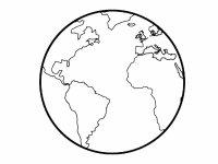 Dibujos de bola del mundo para colorear con los nios