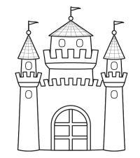 Castillo Princesa Para Colorear Dibujo De Castillo Y Princesa