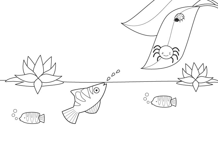 Slippery Fish Pages Coloring Pages