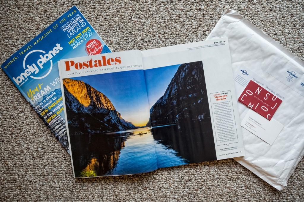 Lonely Planet Magazine 2018 - Kayak in Lysefjorden by Conmisojos - Fernando Sánchez