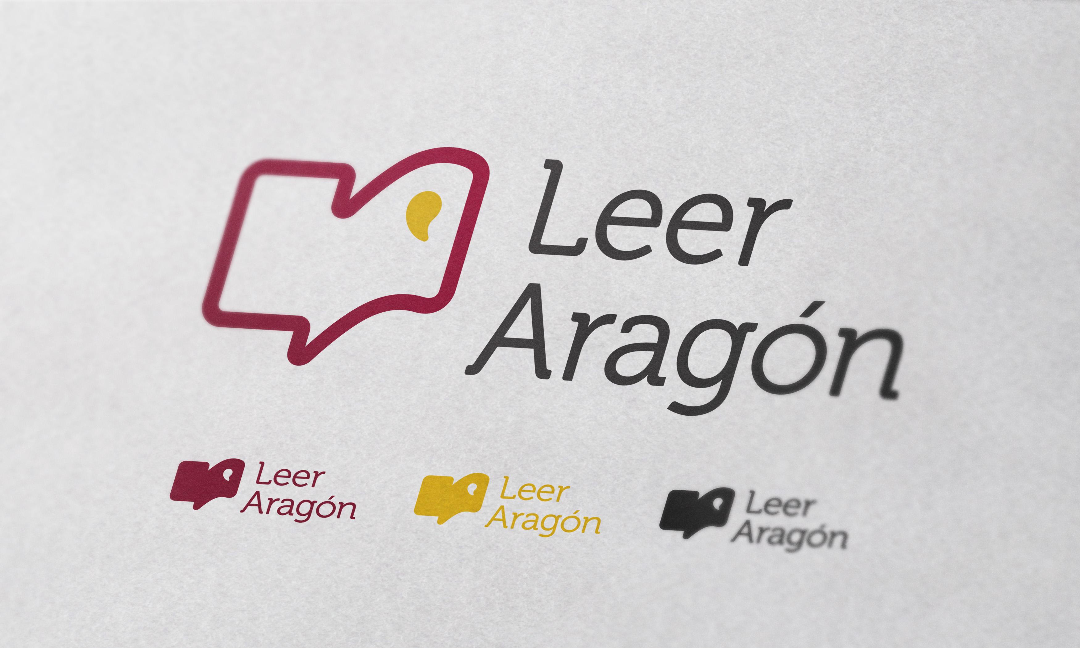 Diseño de logotipo e identidad gráfica Leer Aragón por Fernando Sánchez Arribas, Conmisojos