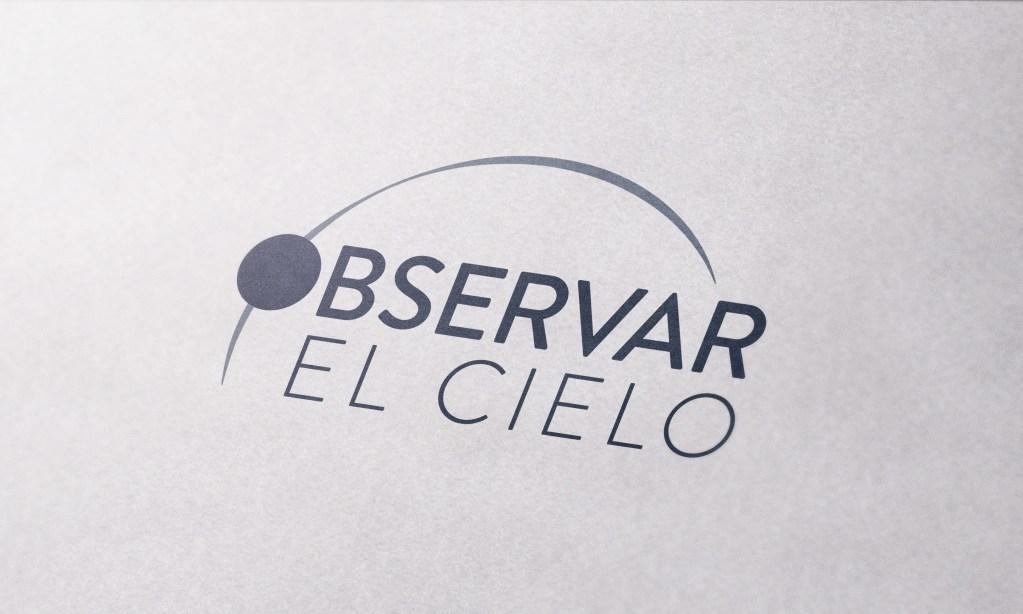 Diseño de logotipo para Observar el Cielo, empresa de astrofotografia.