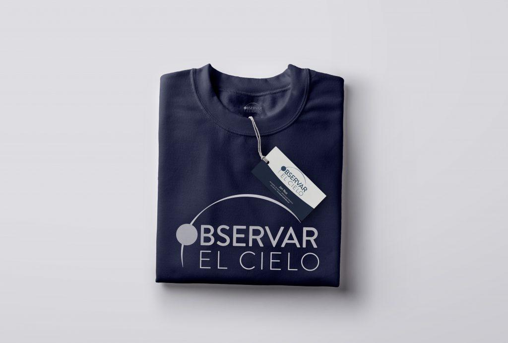 Diseño de logotipo y propuesta de camiseta para Observar el Cielo, empresa de astrofotografia.