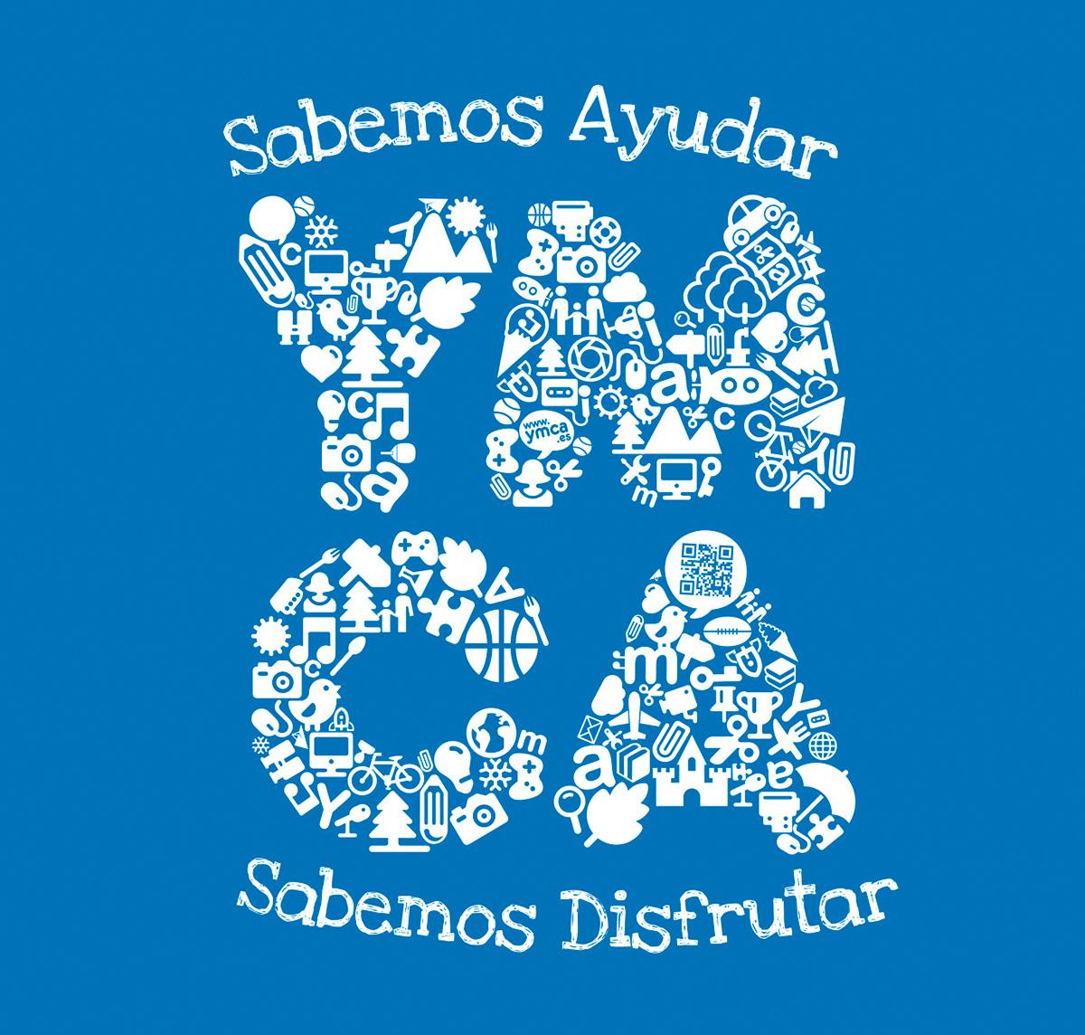 diseño e ilustracion de camiseta de YMCA 2013