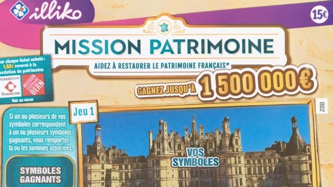 Ticket du Loto « Mission Patrimoine » / © Lise Léger