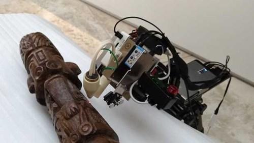 Des analyses non invasives ont été menées sur la célèbre idole de Pachacamac ©Marcela Sepulveda