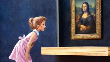 Martine au musée du Louvre :un album inédit des aventures de la jeune héroïne