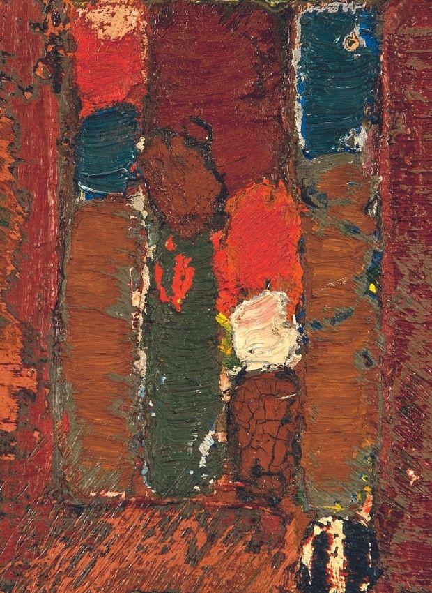 Jean-Michel Coulon, oil on wood, 10.5 x 9 cm, 1970-90, Catalog Raisonné N ° 0431H.  © Archives Aline Stalla-Bourdillon