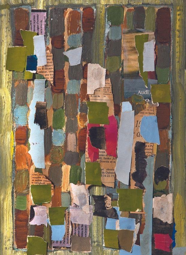 Collage N ° 61-333, Jean-Michel Coulon, circa 2000, 33 x 22 cm, Catalog Raisonné N ° 0528C.  © Archives Aline Stalla-Bourdillon