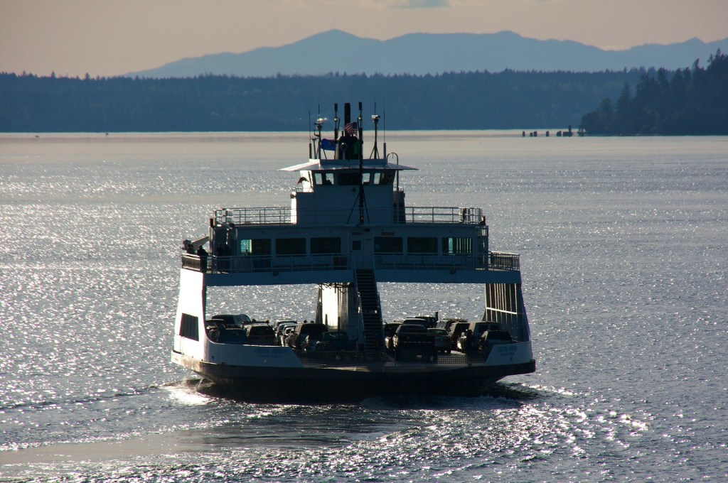 ferry transporting cars