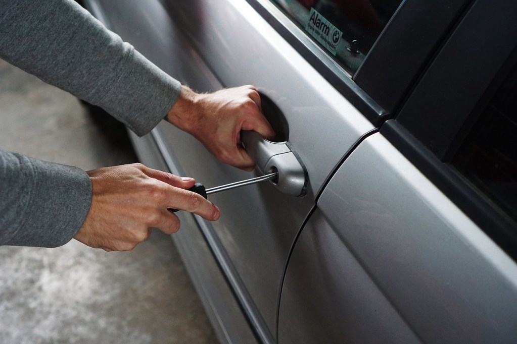 Car theft by screwdriver