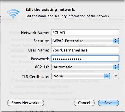 WPA2 Setup for Mac OSX 10.5/10.6 | Emily Carr University