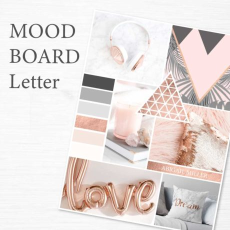 Mood Board Template Rose Gold Collection Connected Colleague