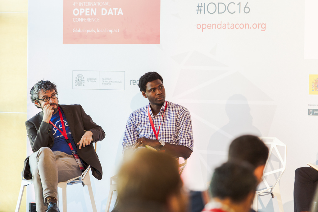 Oludotun Babayemi on the Impact Panel on Data and Accountability at the IODC in Madrid