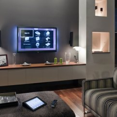 Living Room Shelving Units Tv Wall Unit Designs For Baulogic Opens Show Home With Latest Knx Smart ...