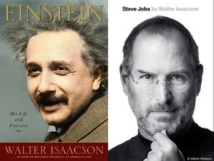 Side-By-Side Picture Of Einstein And Jobs
