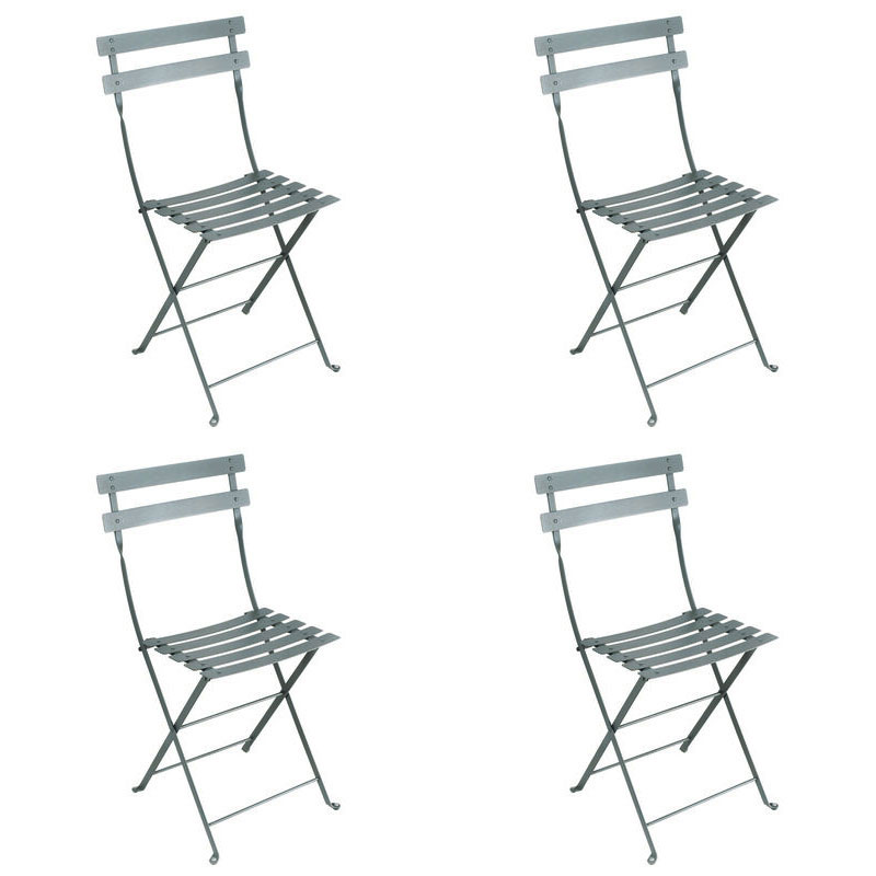 metal bistro chairs bedroom chair online india fermob set of 4 in 26 vibrant colours free shipping uk delivery