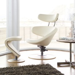 Leather Recliner Chairs With Footstool White Cushion Chair Orange Peel - Varier By Stokke Furniture