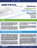 ClaimAction brochure automated HICFA processing for medical claims processing document capture USA Canada