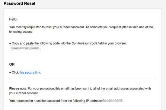 cpanel site admin forgotten