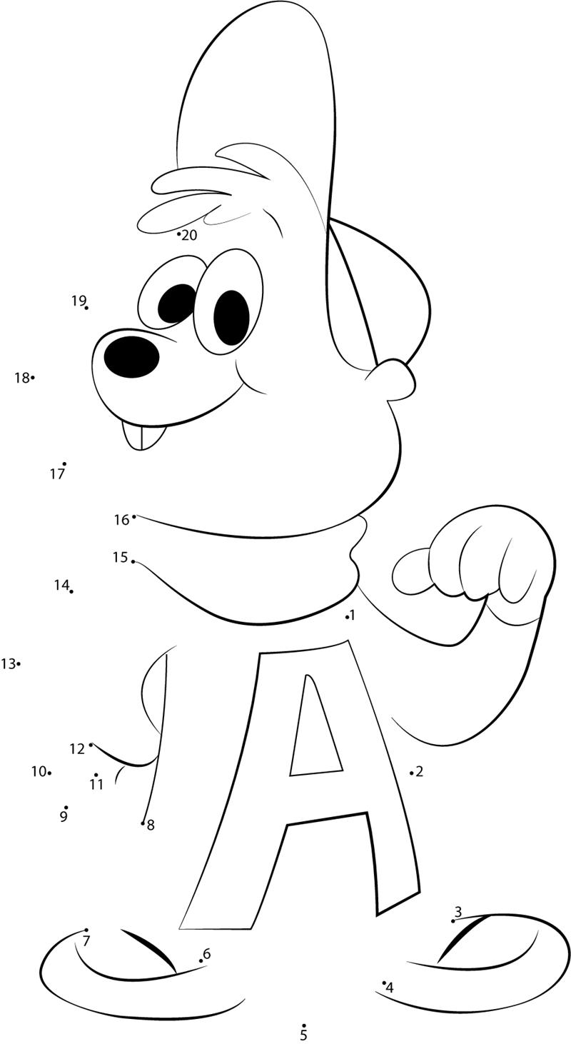 I M The Best Alvin dot to dot printable worksheet