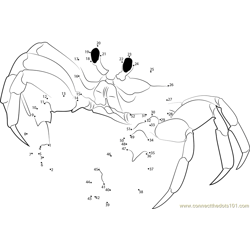 Crab Connect the Dots Worksheets Printable for Kids