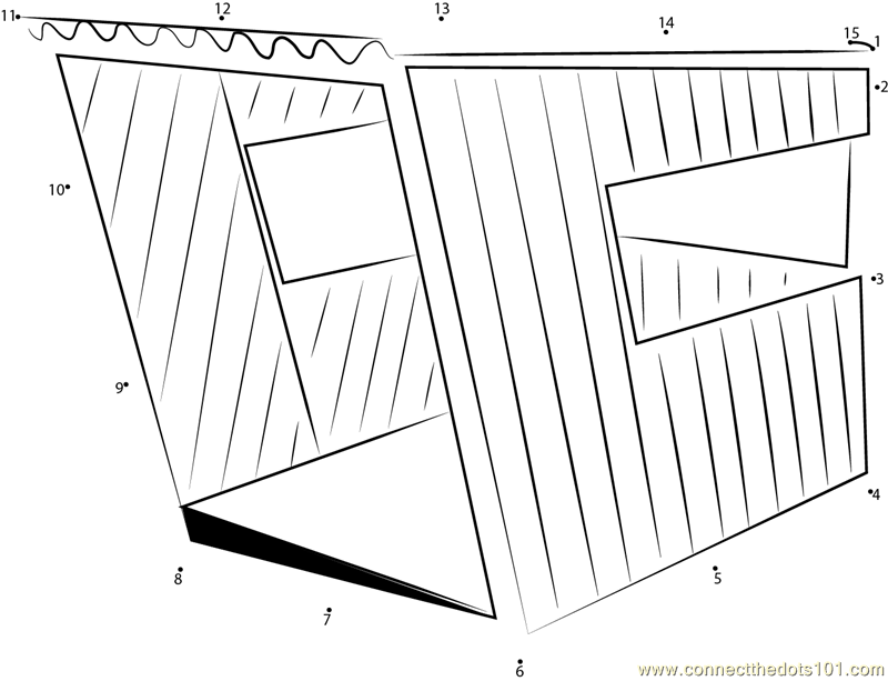 Small Contemporary Dog House dot to dot printable