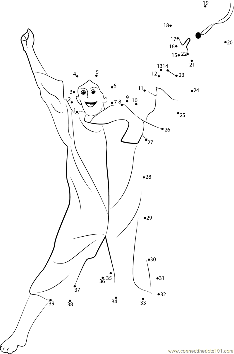 Students Celebrating Graduation dot to dot printable