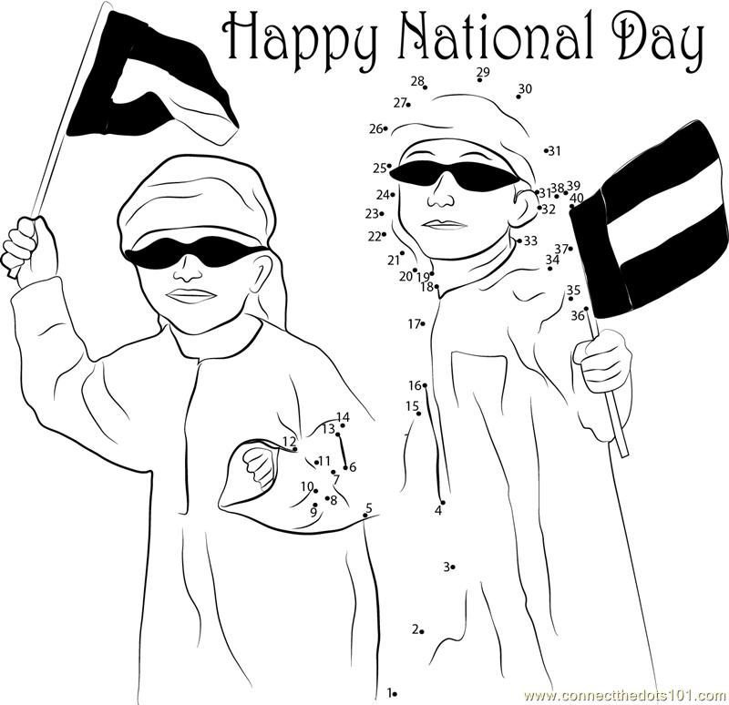 Celebrations On National Day dot to dot printable