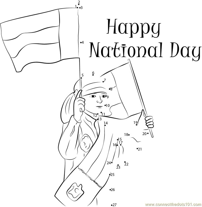 UAE National Day Festivities dot to dot printable