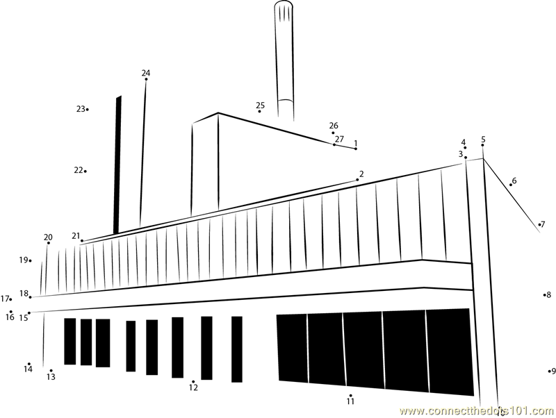 Forsmark Nuclear Power Plant dot to dot printable