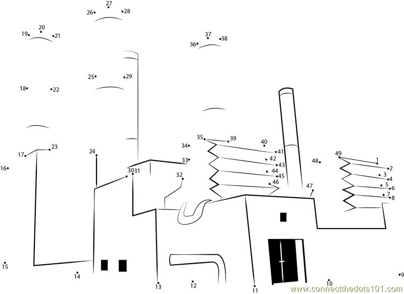 Tarapur Atomic Power Plant dot to dot printable worksheet