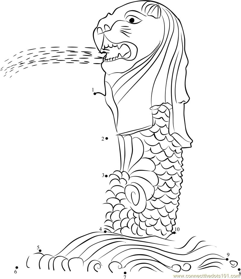 The Merlion is Singapore's Half Lion Half Fish National