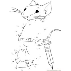 Stuart Little with Bow and Arrow dot to dot printable