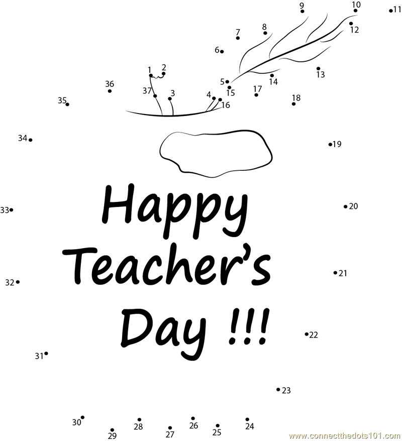 Happy Teacher Appreciation dot to dot printable worksheet